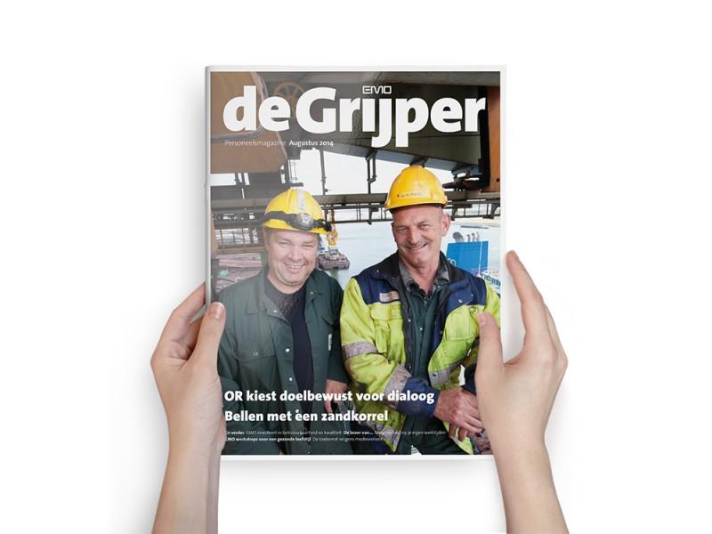 Cover personeelsmagazine De Grijper augustus 2014